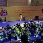 افتتاحیه مسابقات کشتی دانش آموزی کشور با نماد سمندر لرستانی
