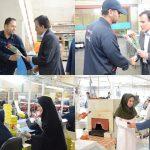 مسئولان و مدیران استان با اهدا شاخه گل از کارگران تقدیر کردند