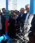 افتتاح پروژه آبرسانی به مجتمع شهدای غلامان چگنی