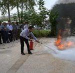 برگزاری کارگاه آموزشی اطفاء حریق وآشنایی با گاز کلر در آبفار لرستان