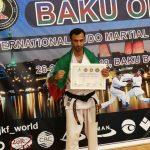 کسب نشان طلای مسابقات بین المللی  کاراته توسط نماینده جمعیت هلال احمر لرستان