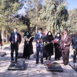 مراسم غبار روبی و عطر افشانی مزار شهدای انقلاب و جنگ تحمیلی