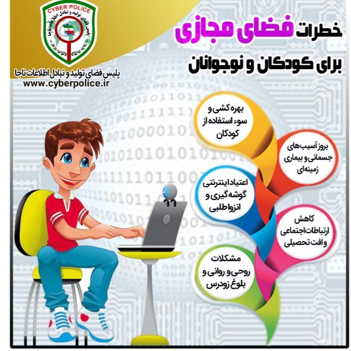 آسیبهای فضای مجازی برای کودکان و نوجوانان