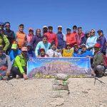 صعود کوهنوردان لرستانی به قالیکوه الیگودرز/ قله ای به ارتفاع ۴۰۸۲ متر