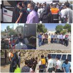 تلاش بی وقفه ناوگان راهداری در جابجایی مسافران قطارهای در راه مانده